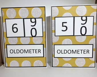 OLDOMETER 50 or 60 year birthday