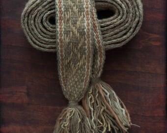 Birch Twigs - woolen belt for LARP and reenactment costumes.