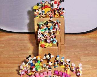 Lot 69 Vtg 1950+ Disney Toys Mickey Minnie Mouse Goofy Pluto Donald Daisy Duck