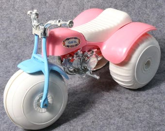 Vintage Little Ms. ATC ATV 3 Wheeler-Barbie Size,  Processed Plastics Co., Rare