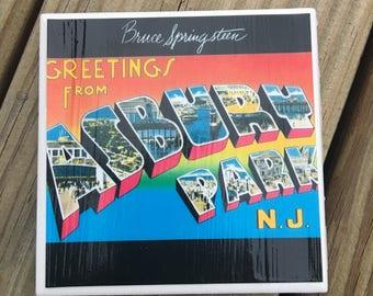 Bruce Springsteen Coaster - Greetings from Asbury Park NJ