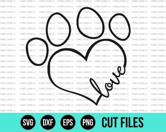 Paw Print SVG - SVG Files - Pet SVG - Paw svg - Cut Files - Cricut Files - Silhouette Files - Vinyl Designs