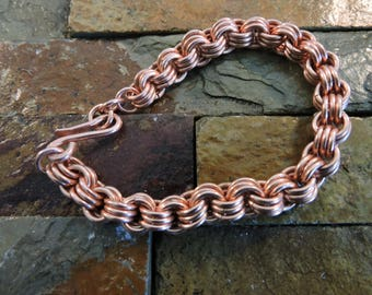 Copper 3X3 Bracelet, Handcrafted,