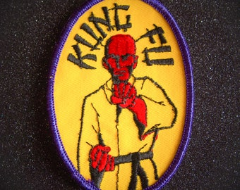 Vintage Kung Fu Embroidered Patch