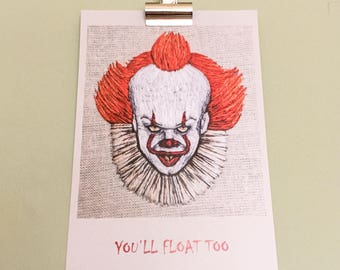 Pennywise - You'll Float Too A5 Art Print