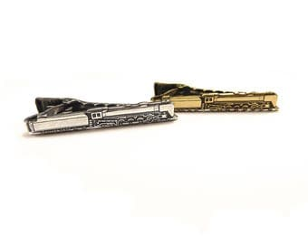 Train Tie Bar, Train Tie Clip, Gifts For Men- Christmas Shipping Still Available!