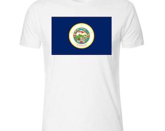 Flag of Minnesota Men's White T shirt