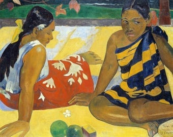 "Original plastic placemat Gauguin ""Two Women of Tahiti"""