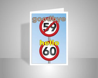 Opart 50th happy birthday card for her for him golden 50 funny 60th happy birthday card for him for her 60 birthday wishes card for dad mom bookmarktalkfo Choice Image