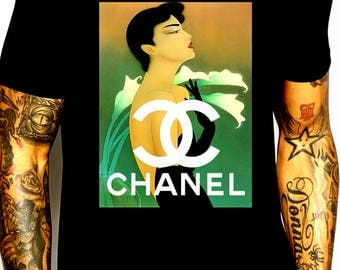 Chanel inspired vintage magazine ad #3 shirt M or L