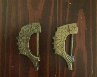 Brass Asian Fish Locks
