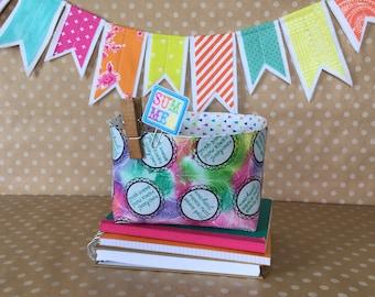 Mini Sticker Storage Tote. Planner Storage Bin. Sticker Organization Tote. Bullet Journal Storage Basket. Gift For Mom. Cute Office Decor