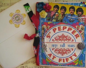 Sgt. Peppers 50th Anniversary Card, 50th Birthday Card, Beatles Sgt. Peppers Fifty Years