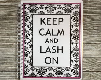 Lash Expert Yearly Appointment Book with Income Tracking - Damask Design
