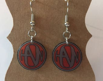 Handmade Plastic Fandom Earrings - Hanson Symbol [dangle]