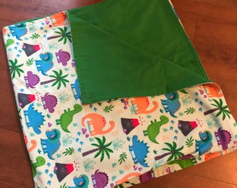 Dinosaur Baby Double Swaddle Blanket *READY TO SHIP*