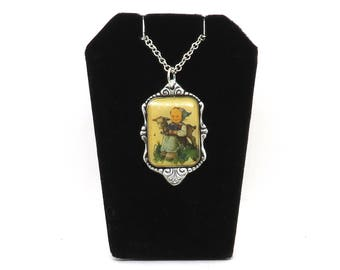hummel necklace, collectible necklace, limited edition necklace, vintage necklace