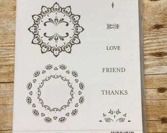 Make a Medallion photopolymer set from Stampin'Up!