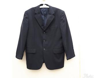 Men's Vintage 1990 Givenchy Men Black & Gray Blazer Sport Coat Size 40S
