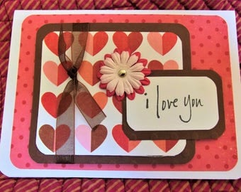 I Love You Greeting Card in Rose