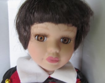 Porcelain Doll - 13'' tall Boy Doll - NIP