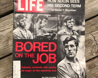 Vintage Life Magazine September 1 1972 Issue Auto Workers Bored On Jobs President Nixon Term In Oval Whitehouse Office Wendell Willkie lcww