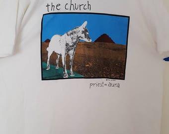 The Church (band) Priest=Aura concert shirt NEW