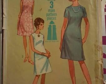 Simplicity Jiffy Vintage 1967 Pattern Size 12  #7072