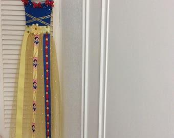 Snow White inspired Dress  Shape hairband/clip holder