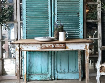 Vintage French rustic Farmhouse table / desk