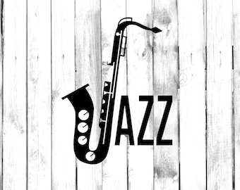 Jazzin' Out with Saxophone - Car/Truck/Home/Phone/Computer/Laptop Decal