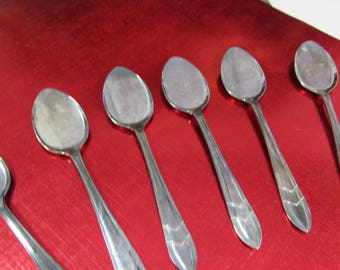 Vintage Ice Cream Parfait Spoons Set of Six Sheffield England MS LTD EPNS