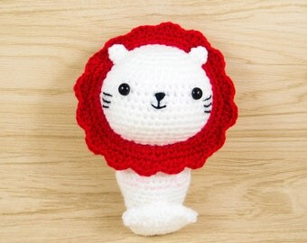 Merlion Plush - Merlion Amigurumi - Crochet Merlion - Merlion Stuffed Animal - Stuffed Merlion - Merlion Toy - Singapore Icon