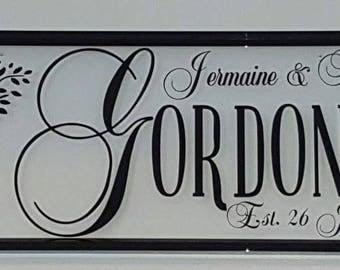 Couple Wedding Keepsake Frame For Bride & Groom