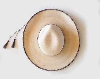 vintage straw Carolina hat
