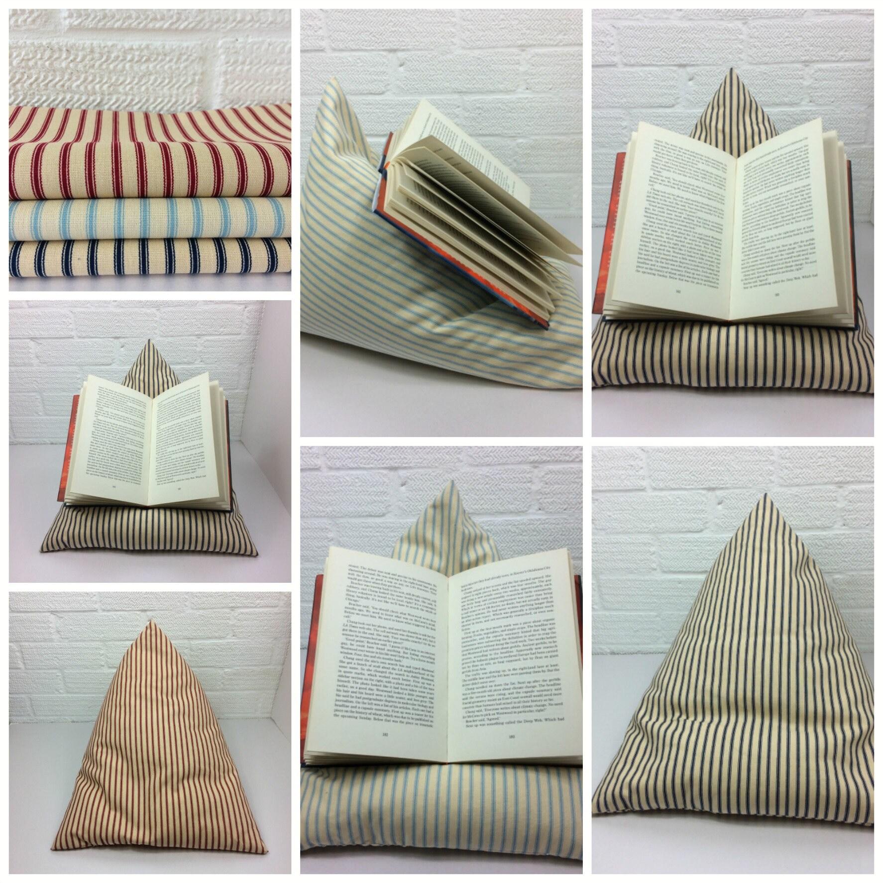 ipad book holder ipad pillow cushion ticking striped bean