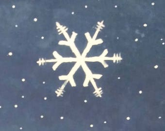 Indigo Resist Snowflakes