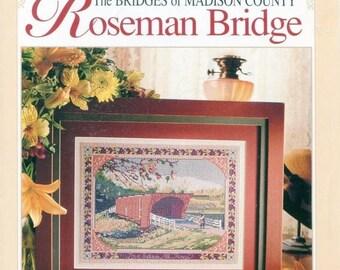 SUMMER SALE 1990s Roseman Bridge Cross Stitch Leaflet Bridges of Madison County Better Homes & Gardens
