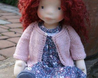 Rosalie 17inch waldorf inspired doll, waldorf doll ,steiner doll, handmade doll