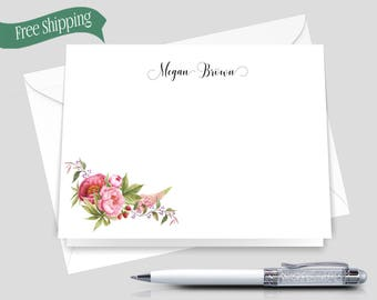 Personalized Monogram Stationery _ Set of 12 with Envelopes _ Signature Collection _ Personalized Stationery _ HWM008