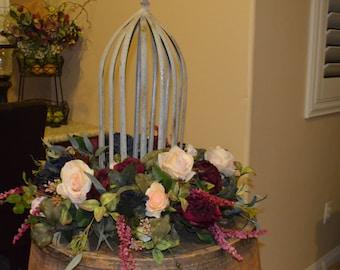 Floral Rings, Centerpiece rings, Silk centerpieces, wedding centerpieces, lantern rings, bohemian centerpiece,