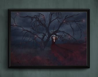 Fine Art Photography Fantasy Dreamscape Witchy Woman Tree