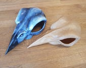 League of Legends cosplay prop, handmade bird skull for Xayah the Rebel