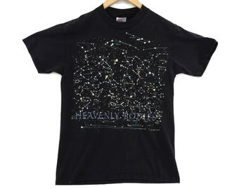 VTG 1992 Heavenly Bodies Astronomy T-Shirt - Small - Constellations - Star Shirt - Outer Space - Aliens - Vintage Tee - Vintage Clothing -