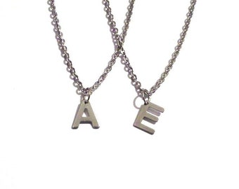 Personalized jewelry, Letter necklace, Silver initial necklace, Initial necklace, personalized necklace, bridesmaid gift, monogram jewelry
