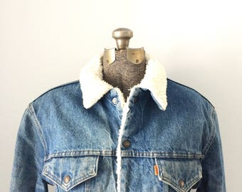Vintage Levis Mens Denim Jacket Size 44