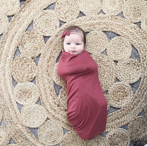 Baby Swaddle- the | Petal | Burgundy Swaddle Blanket