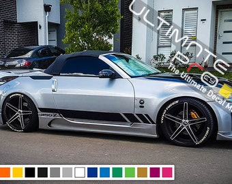 Decal Sticker Vinyl Side Stripe Kit Compatible With Nissan 350Z