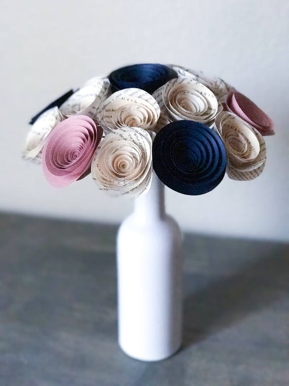 Wedding bouquet paper flower bouquet wedding bouquet alternative il570xn mightylinksfo
