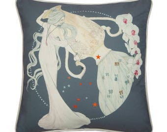 Aquarius  Zodiac Cushion